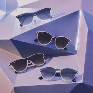 12aed6bdfa Con degradado y transparente: las legendarias Wayfarer y RB2180 incorporan  las nuevas lentes Blaze por encima de la montura (de silueta transparente y  ...